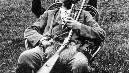 """Der """"Karren Franz"""" auf einem zeitgenössischen Foto."""