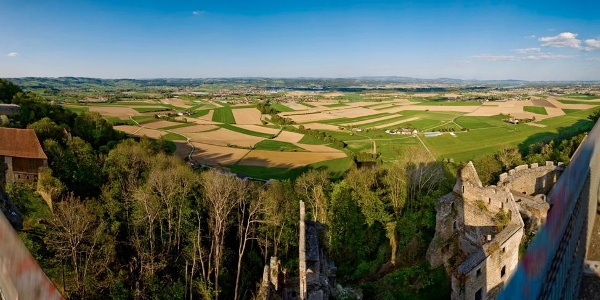 Panoramablick Burgruine Schaunberg