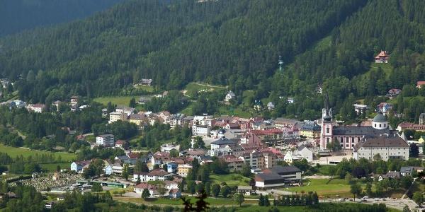 Blick auf Mariazell mit Basilika