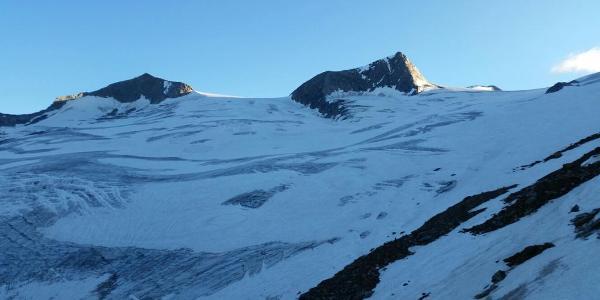 Gletscher in der Morgensonne