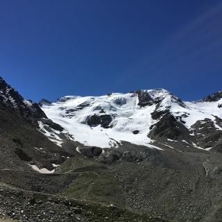 Blick von der Schaubachhütte auf die Suldenspitze