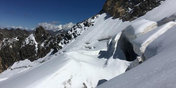 Blick zur Eisseespitze unterhalb der Suldenspitze