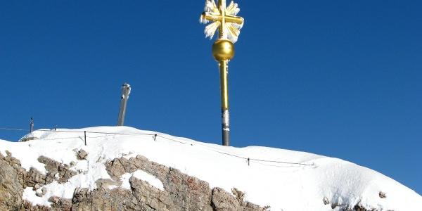 Gipelkreuz auf der Zugspitze.