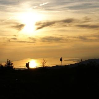 Sonnenuntergang auf der Niedere