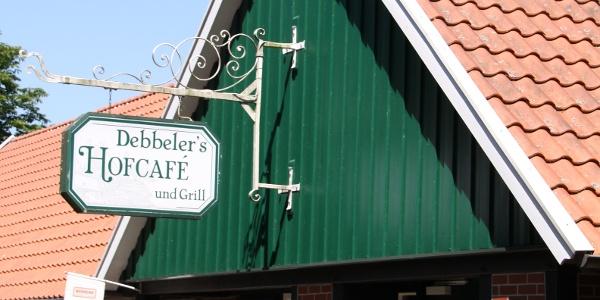 Debbelers Hofcafé - Eingang