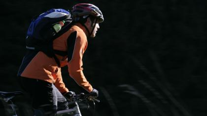 Mountainbiker im Soonwald