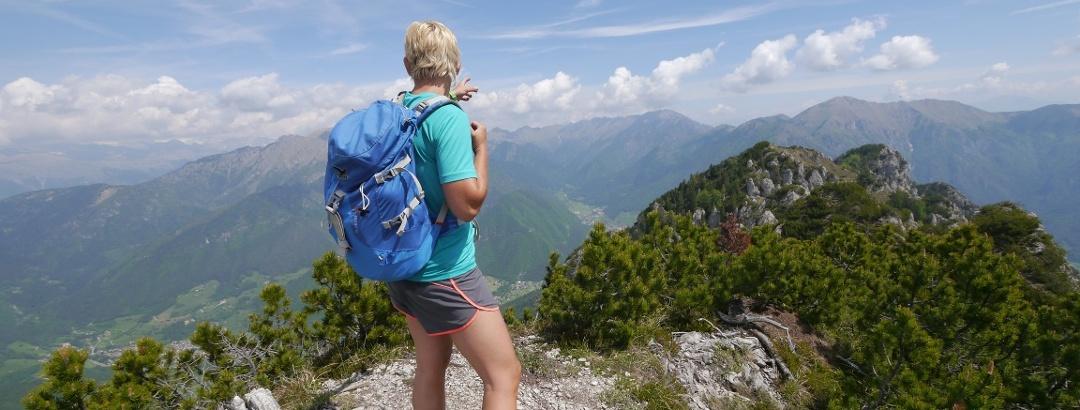 Auf dem Gipfel der Cima Prubegn