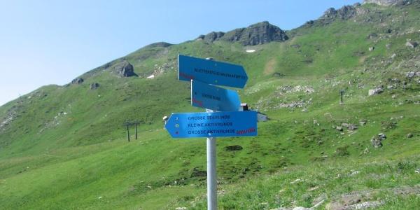 Blick zum Klettersteig Hochalmblick