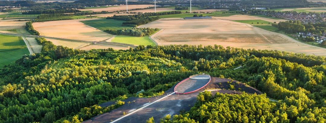 Luftbild Aussichtspunkt CarlAlexanderPark