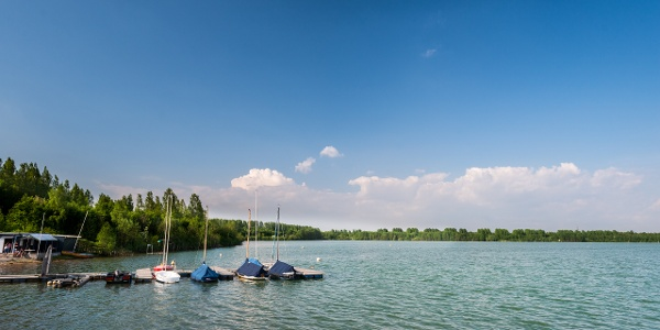 Seegelboote am Blaustein-See