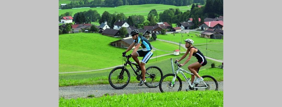 Mountainbiken in Ofterschwang.