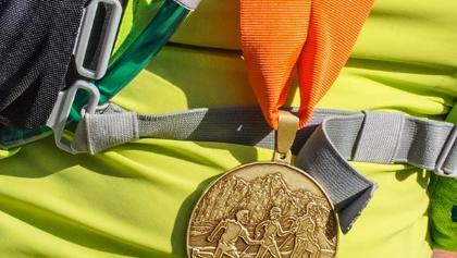 Die Siegermedaille für die 52km-Distanz.
