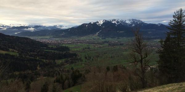 Blick Richtung Brauneck & Benediktenwand