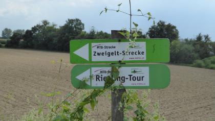Markierung der Riesling und Zweiglt MTB Tour
