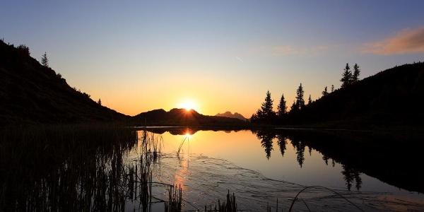 Sonnenuntergang bei den Trögseen