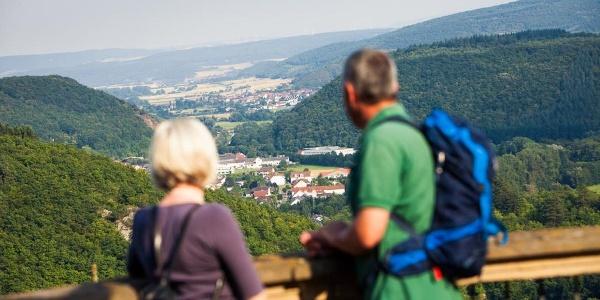 Blick von Schloss Dhaun ins Nahetal