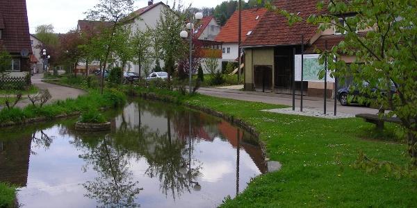 Wasserlauf in Lonsee.