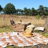 Herrliche Picknicklandschaft zur Heideblüte