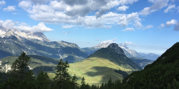 Blick in Richtung Kalbrunnalm