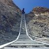 Leiter im Grossen Daubenhorn Klettersteig