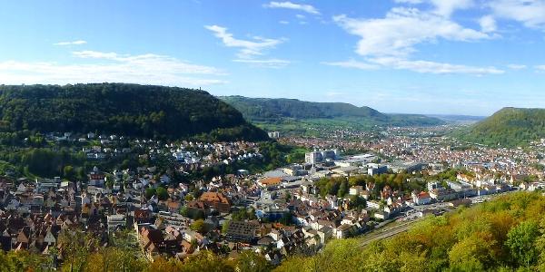 Panoramablick von der Burgruine Helfenstein
