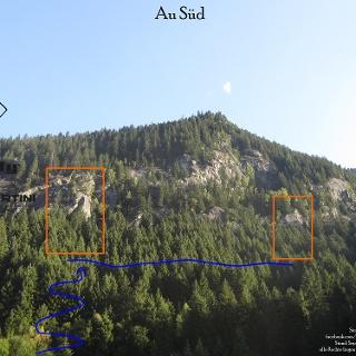 Au Süd - Übersichtsbild Kletterfels im Zillertal (Zillergrund)
