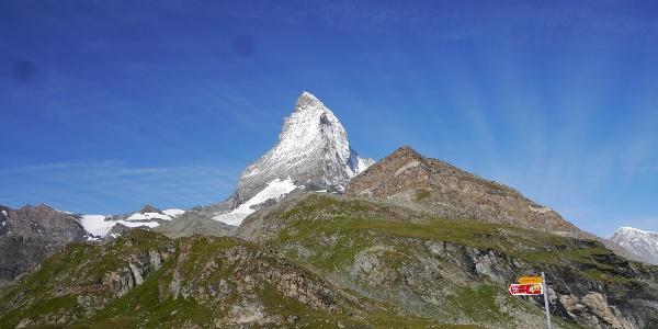 Das Matterhorn von Zermatt aus gesehen