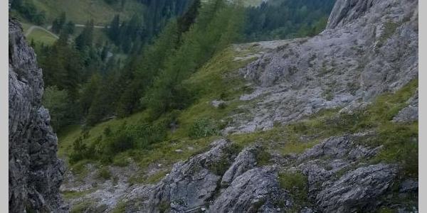 Blick vom Schrofenpass