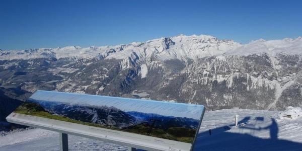 Panoramatafel auf Furggabüel