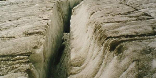auf dem Gletscher unterhalb des Fluchtkogel