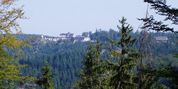 Blick vom Wiedenfelsen zur Bühlerhöhe