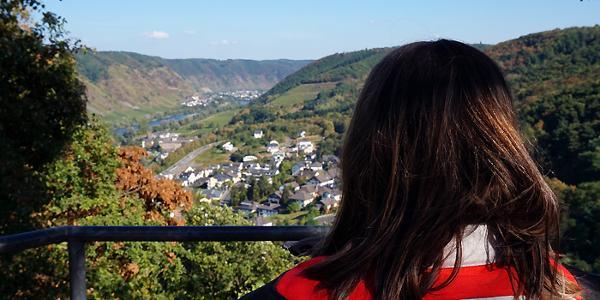 Blick hinab auf Cochem