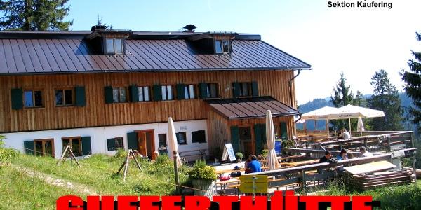 Herzlich Willkommen auf der Gufferthütte