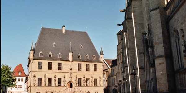 Rathaus Osnabrück mit Marktplatz
