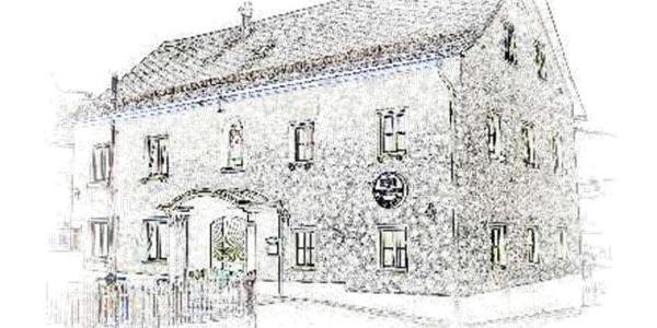 Grafik des alten Gasthauses Ägydi