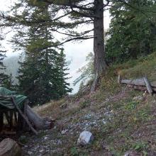 Rieshütte mit Blick rüber zur Breite Ries