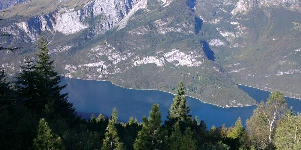 Blick auf den Molvenosee