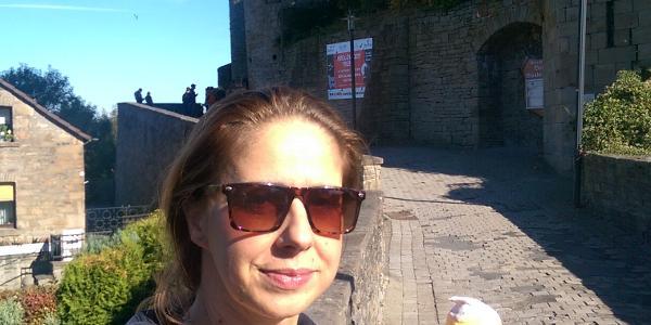 Pause an Burg Blankenstein