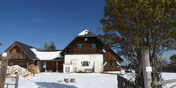 Schwanberger Brendl Hütte im Oktober