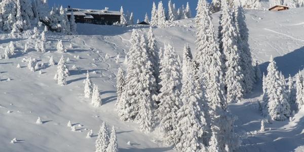 Starthang für Skitourengeher