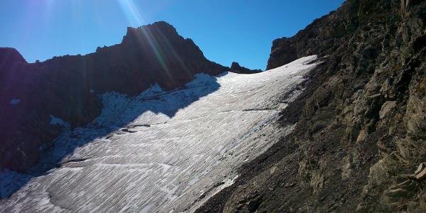 Gletscher kurz vor Gipfel