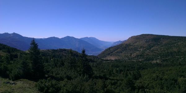 Blick auf das Valle dei Lagh (Seental)