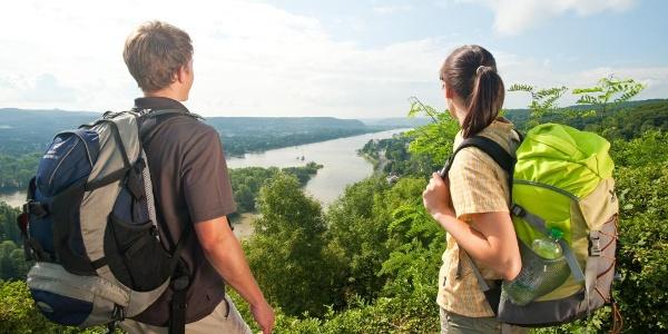 Wanderer am RheinBurgenWeg