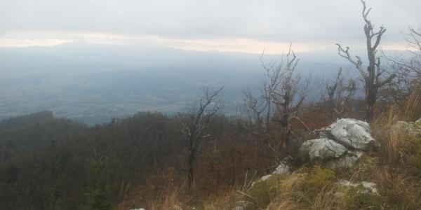 View from Suhi Vrh on Postojnksa Kotlina