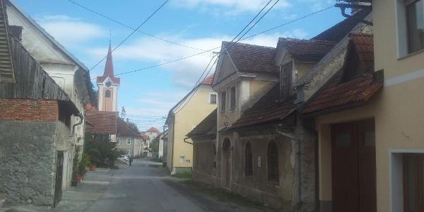 Planina (bar Demšar is left from the church)
