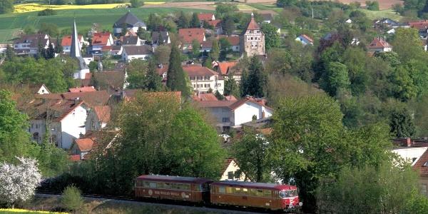 Blick auf die Altstadt von Neckarbischofsheim