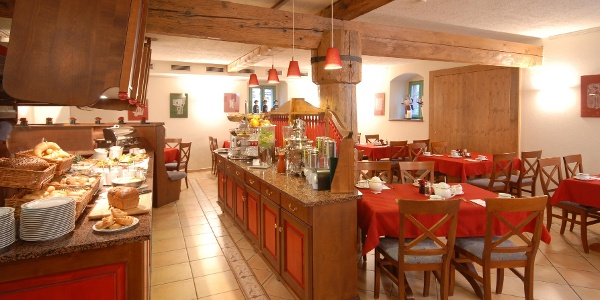 Frühstücksbuffet im Raum Kupferkeller