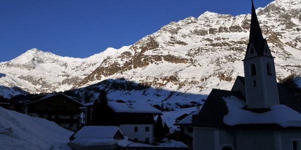 Pfelders mit Ötztaler Alpen