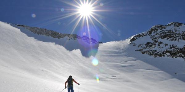 Aufstieg zur Sonklarspitze