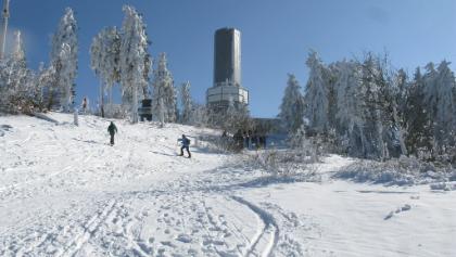 Station auf dem großen Feldberg im Winter